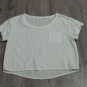 Frenchi embroidered crop top
